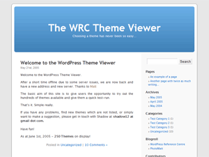 Screenshot of WordPress's Default Theme