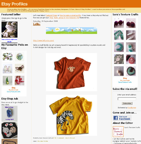 lello featured on Etsy Profiles