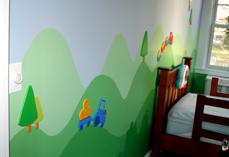 Toddler's Mountain Scenery Mural by lello