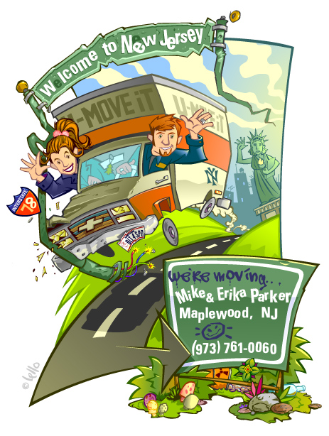 Moving to New Jersey illustration by lello