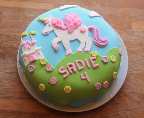 lello Unicorn Birthday Cake