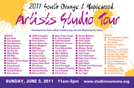 South Orange, Maplewood Studio Artist Studio Tour